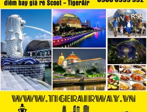 điểm bay Singapore Scoot Tiger Air