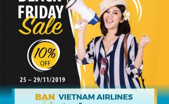 Vietnam Airlines ưu đãi Black Friday